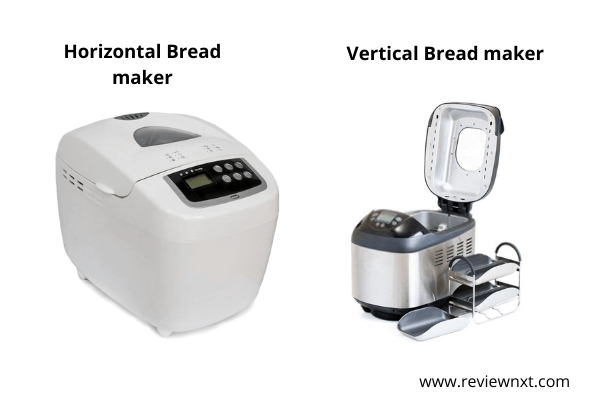 horizontal bread maker and vertical bread maker