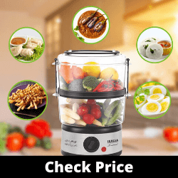 Inalsa Gourmet Multi-Function Food Steamer & Egg Boiler