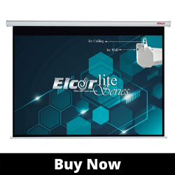 ELCOR lite Series Electric Best Motorized Projector Screen, 106-Inch Diagonal in 16_09 Format, 1080P Full hd, 4k Technology