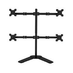 DazzelOn Quad 4 LCD LED Monitor TV Mount Stand Free Standing Holds Displays (13-27) ,Height Adjustable , Gaming , Trading , Video Editing,Surveillance