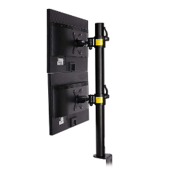 FLEXIMOUNTS D1DV Full Motion Vertical Dual Desk Mounts Stand for 2 screens up to 27 LCD Monitor