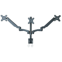 Rife Triple Monitor Desk Mount Arm,Stand with Height Adjustable Gas Spring Arms Fits 19,20,24 Inch Screens